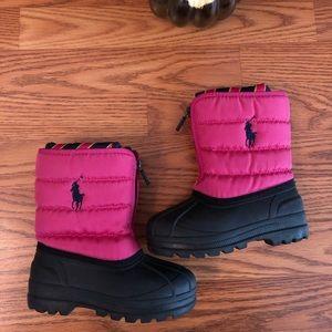 Polo Ralph Lauren Pink Snow Waterproof Boots